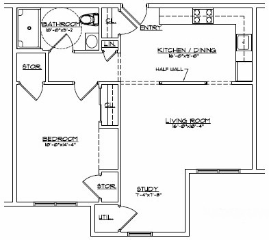 senior housing floor plan - Ellenville NY by Devon Mgt.