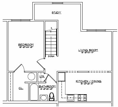 Senior housing floor plan in Goshen by Devon Mgt.